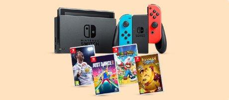 Nintendo Switch 32GB Console Rood Blauw + game naar keuze voor €349 @ BOL.com