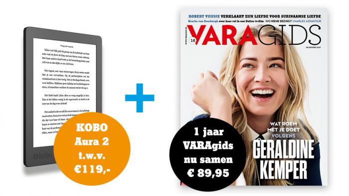 Kobo Aura Edition 2 e-reader  +1 jaar de VARAgids