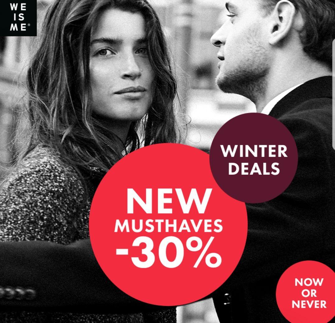 WE Fashion 30% korting op geselecteerde items