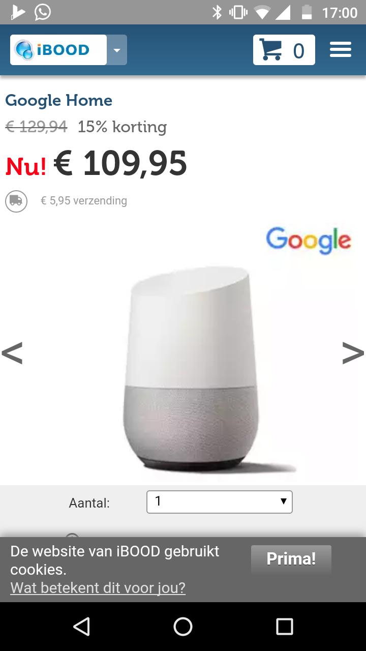 Google Home @ iBOOD App