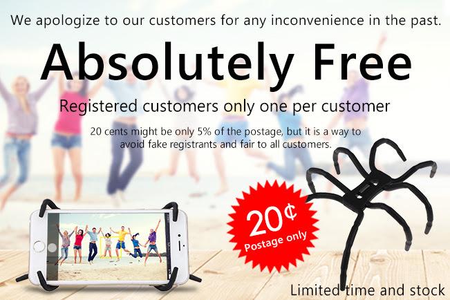 Flexible Spider Shaped Phone Holder Mount voor €0,20 verzendkosten @ Zapals