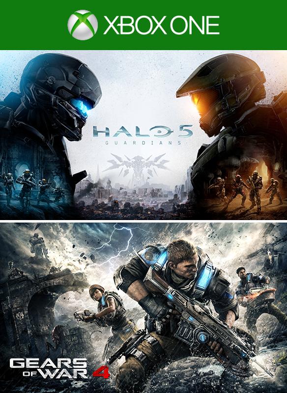 Bundel met Gears of War 4 en Halo 5: Guardians voor Xbox One (X) en PC (alleen Gears of War 4)
