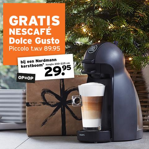 Gratis Nescafe Dolce Gusto bij aanschaf van een Nordmann kerstboom