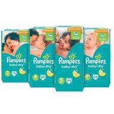 Pampers jumbopakken 47-70 stuks, 2 pakken