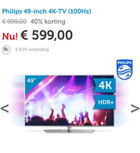 Philips 49-inch 4K-TV (100Hz) @ iBOOD