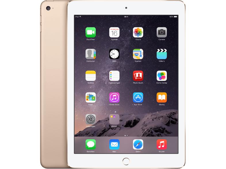 Apple iPad Air 2 Wi-Fi 128GB Goud @ Mediamarkt