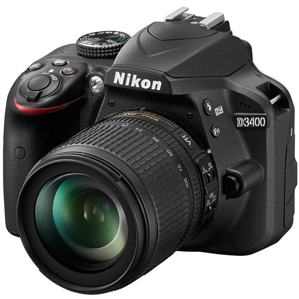 Nikon D3400 + AF-S DX 18-105mm f/3.5-5.6G ED VR Zwart @ BCC