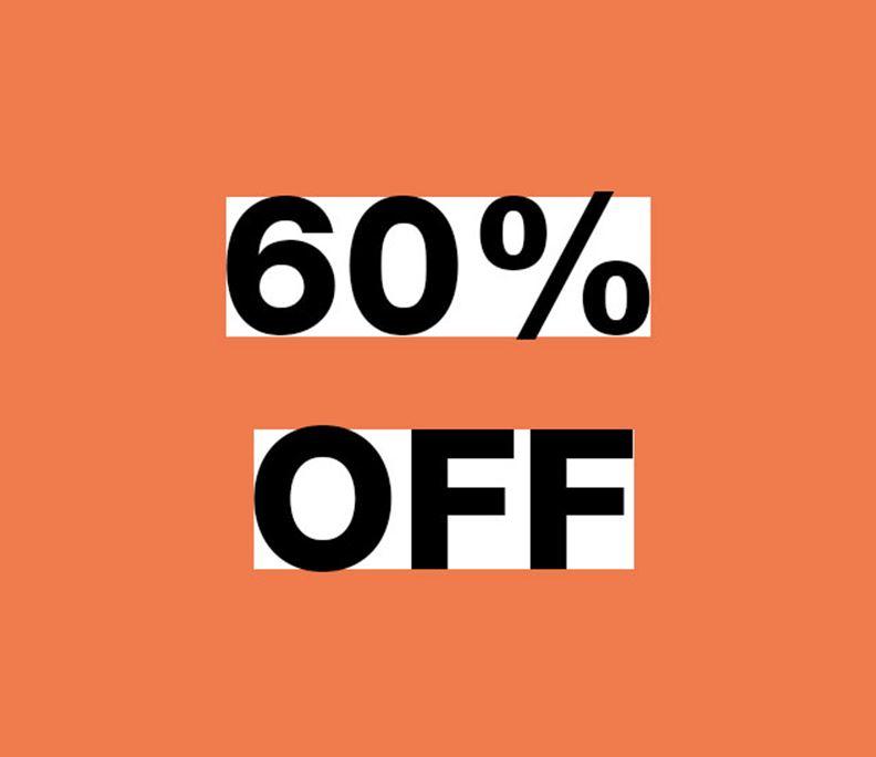 Alle sale - dames & heren - 60% korting @ Gsus