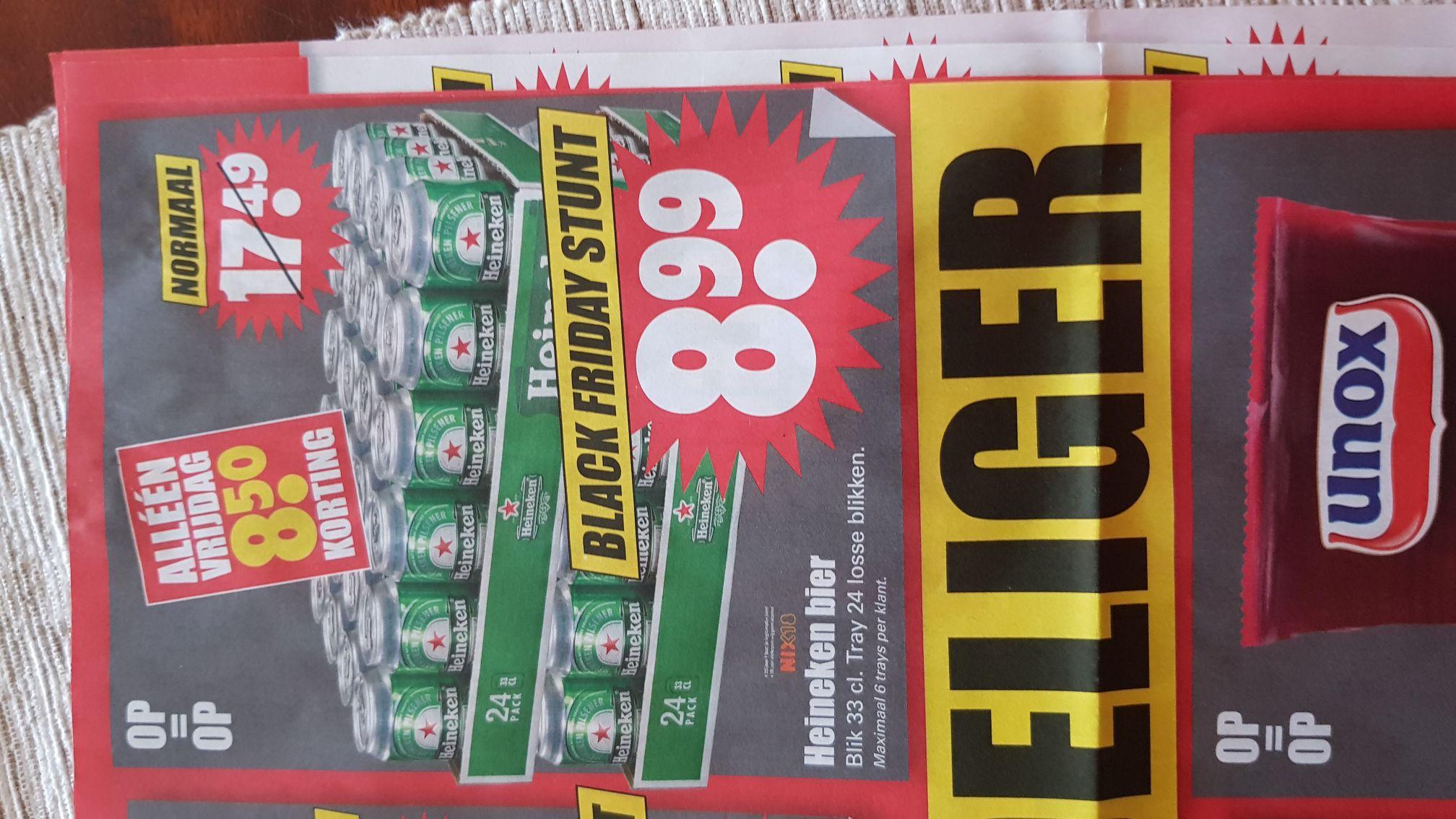 Black Friday: 24 Blikjes Heineken bier alleen vrijdag 24 november @ DIRK