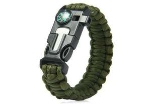 5 in 1 Unisex Outdoor Survival Paracord Armband @ Zapals