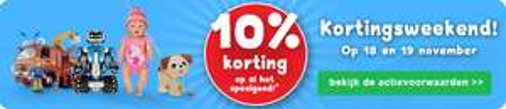 Bartsmit 10% korting op alle speelgoed ( 18 en 19 november)