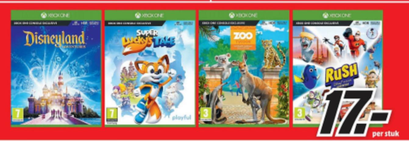 Vanaf maandag diverse Xbox One games voor €17 @ Mediamarkt