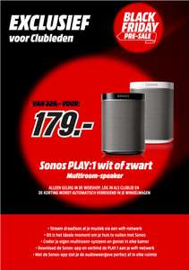 Sonos Play:1 (zwart of wit) @ Mediamarkt