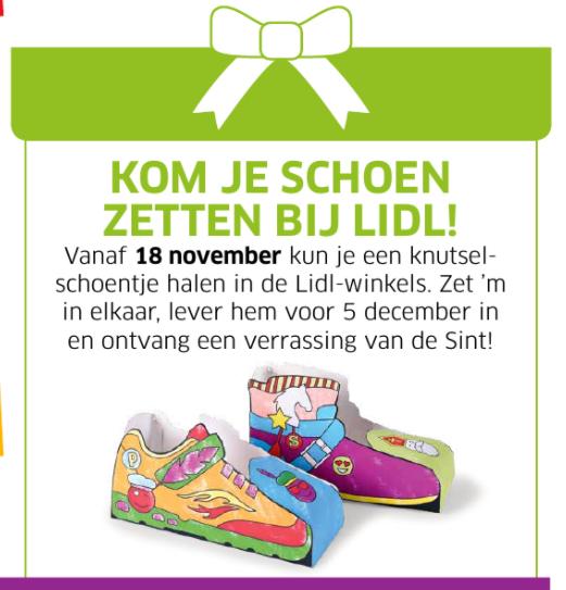 Schoentje knutselen en inleveren voor gratis verrassing @ Lidl