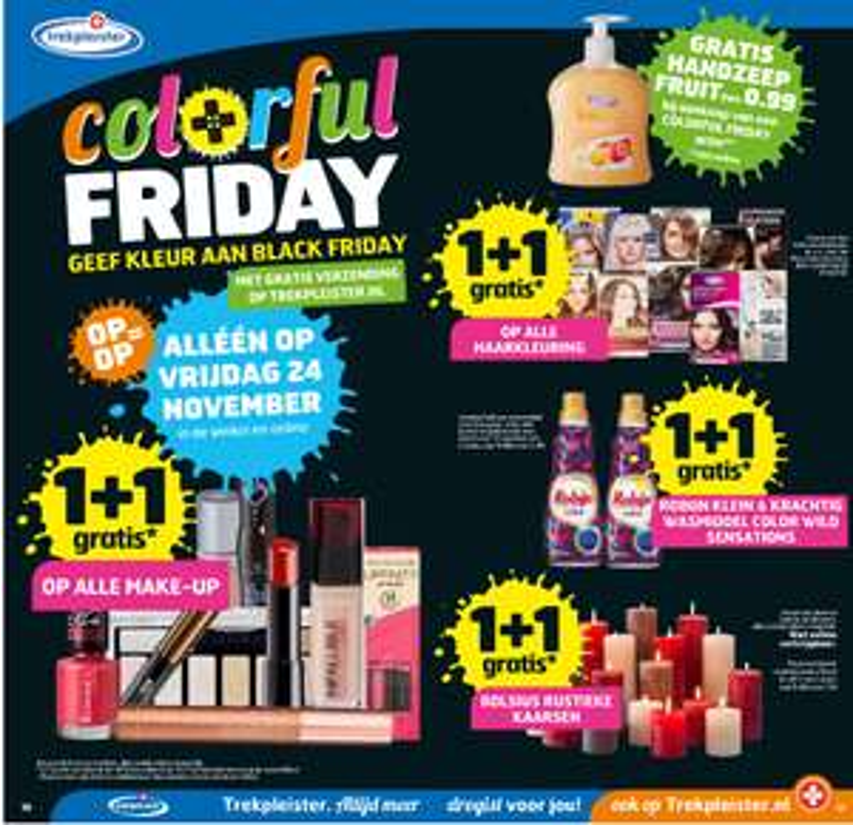 Colorfull Black Friday met 1+1 aanbiedingen en gratis verzending op alles @ Trekpleister