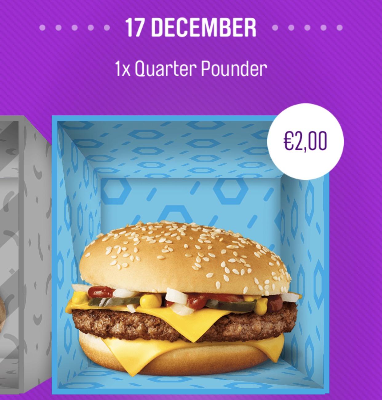 McDonald's Cadeau kalender 2017