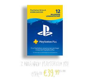 12 maanden Playstation Plus voor €40 @GameMania (Black Friday)