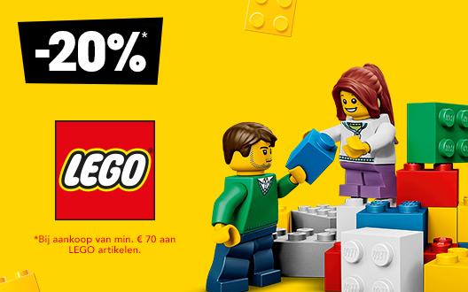 20% korting op LEGO artikelen