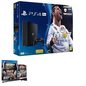 PS4 Pro (1TB) + FIFA 18 + Call of Duty: WWII voor €350 @ Amazon UK