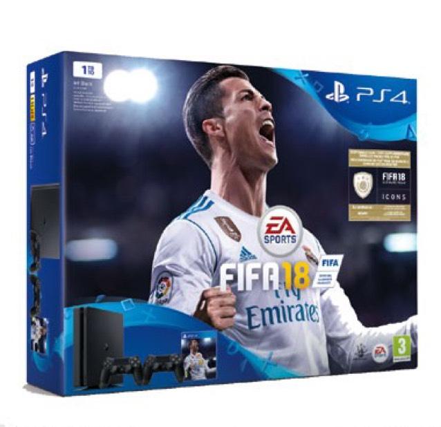 PS4 Slim 1TB + Fifa 18 + 2e Controller @ Bol.com