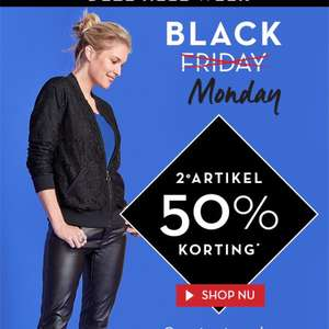 Black monday bij miss etam 2e artikel 50%