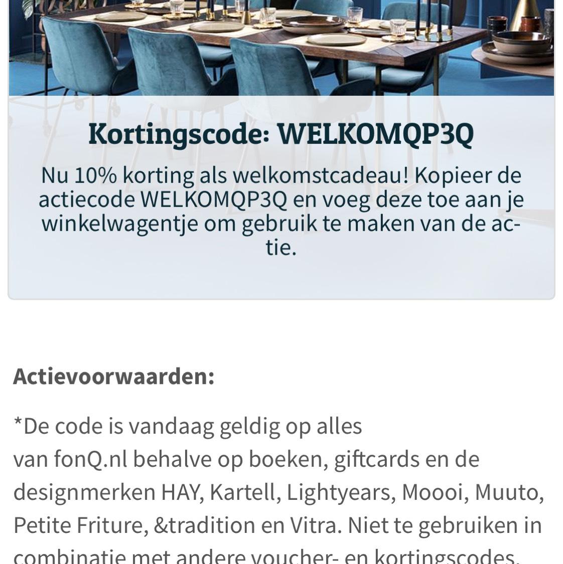 10% korting op alles voor nieuwe klanten @ Fonq.nl