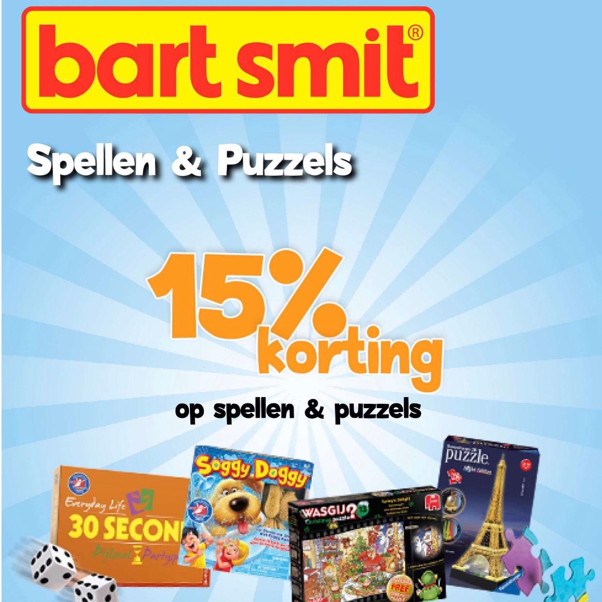 15% korting op spellen en puzzels (t/m 26-11)