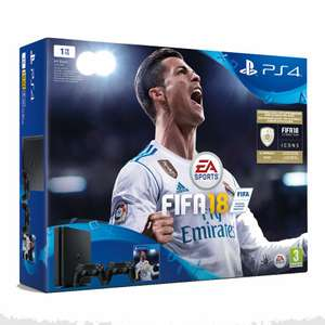 PS4 1TB + 2 controllers + Fifa 18 + COD WWII