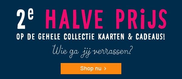 Hallmark elke cadeau/kaart 2e halve prijs (t/m 31 december)