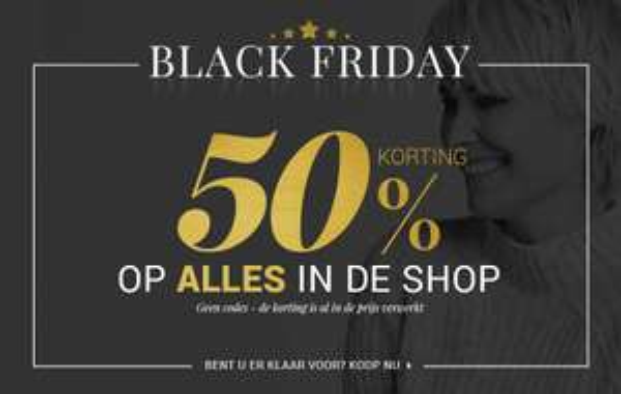 Black Friday: 50% korting op nieuwe collectie @ Bonaparte