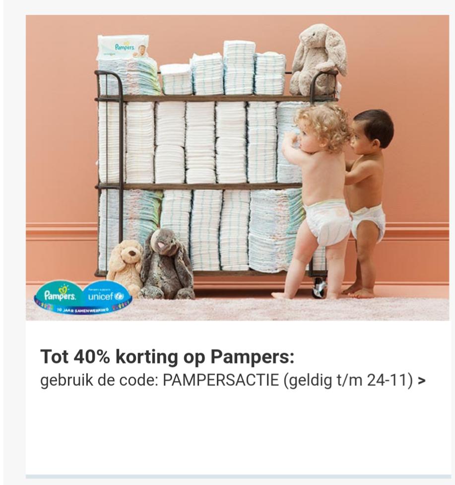 Tot 40% korting op Pampers maandboxen door code (vanaf €33,19) @ Wehkamp