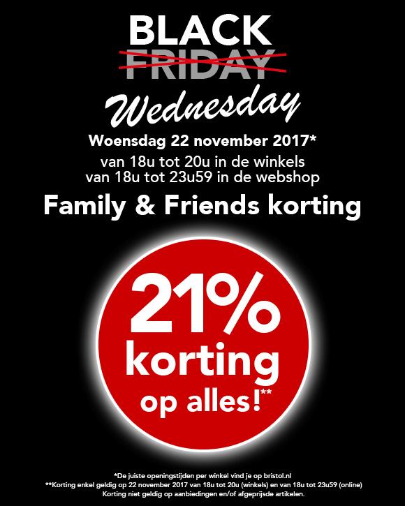 Bristol Black wednesday 21% korting op alles (in winkels en online)