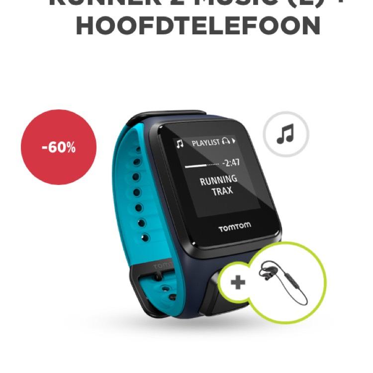 -60% TomTom Runner 2 Music + hoofdtelefoon @ TomTom Store