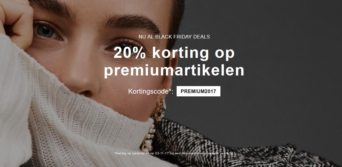 Korting op premium @ zalando (alleen 22-11)
