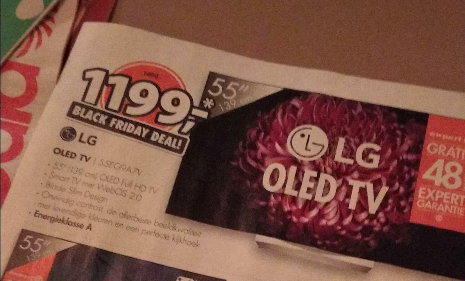 LG 55'' oled-tv met 300 euro korting @ Expert