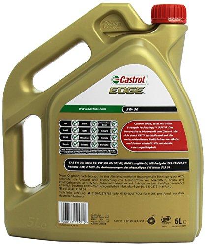 Castrol EDGE 5W-30 5L motorolie voor € 32,44 @ Amazon.de