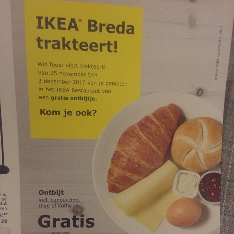 Gratis ontbijten ikea Breda 25nov tm 3dec