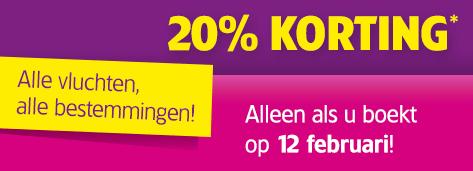 20% korting op alle vluchten! - Alleen vandaag @ WizzAir