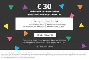 Black friday weekend kortingscode @ esprit
