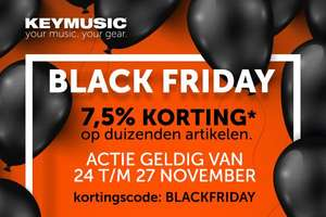 [Keymusic] Black Friday 7,5% korting
