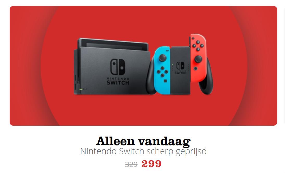 [Black Friday] Nintendo Switch Console voor €299 @ Bol.com (alleen vandaag)