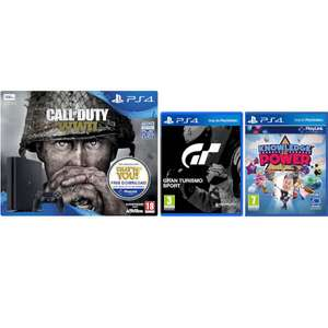 PS4 Slim 500GB + Call of Duty: WWII + GT Sports + Knowledge Is Power voor €227,99 @ Zavvi