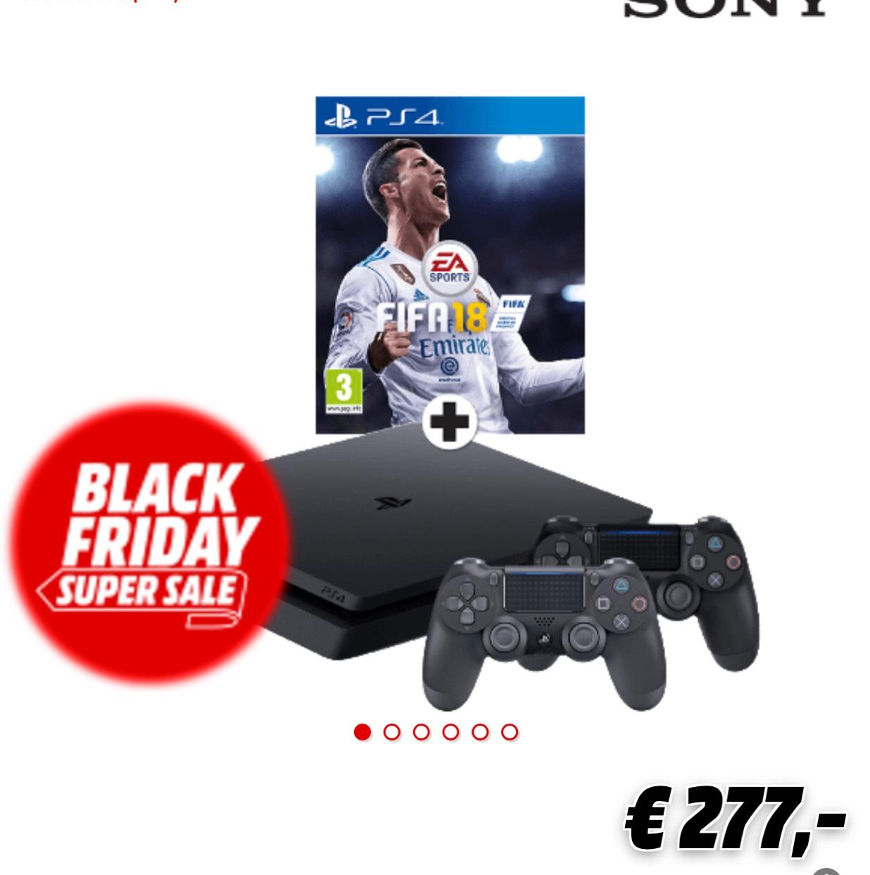 SONY PlayStation 4 (Slim) 1 TB + extra controller + FIFA 18
