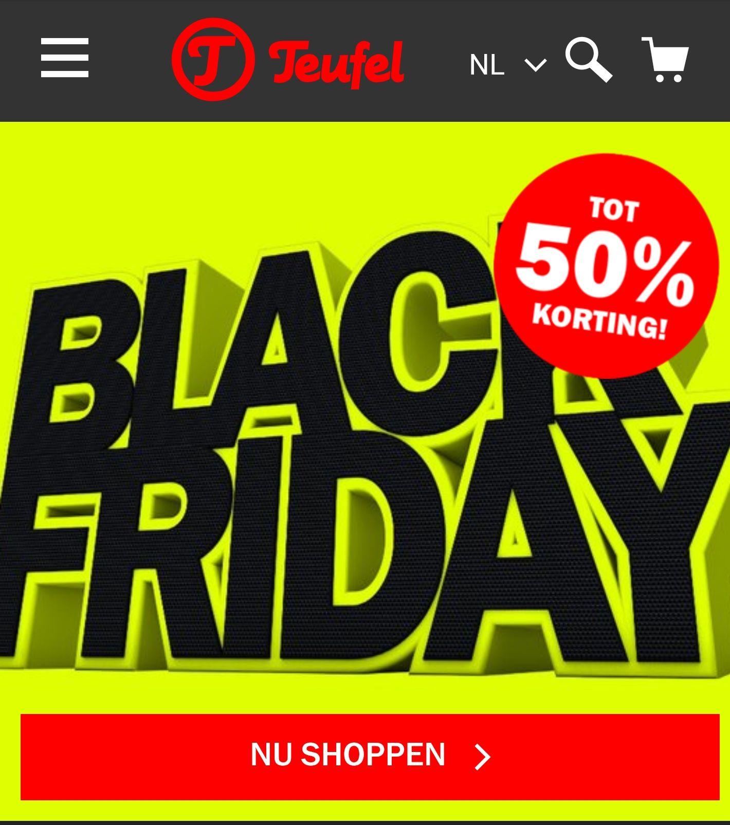 Black Friday bij Teufel (tot 50% korting)