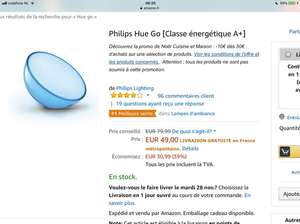 Philips hue go lamp @ Amazon.fr