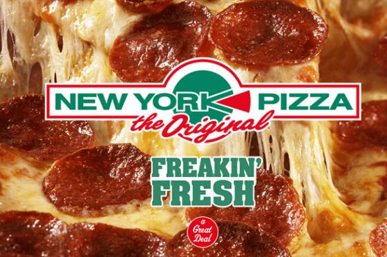 Vanaf vandaag in het hele land pizza voor €3,99 @  New York Pizza