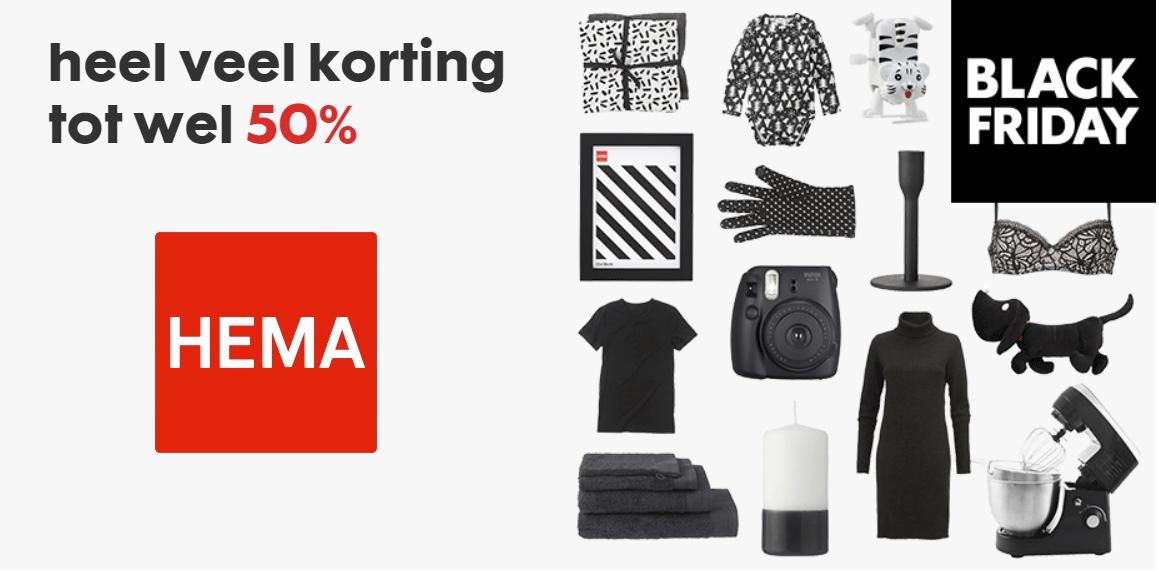 Black Friday deals - tot 50% korting @ HEMA
