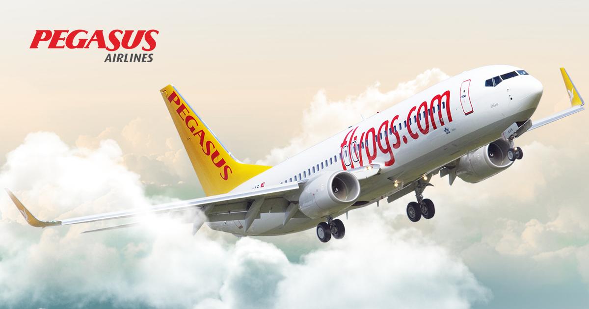 50% korting op alle vluchten @ Pegasus Airlines