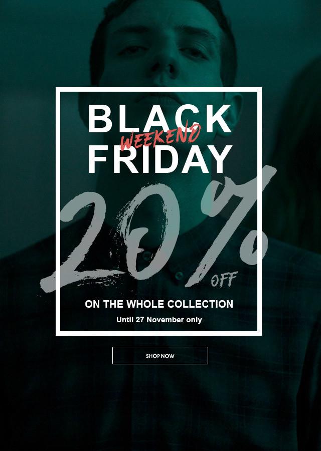 (Black Friday)  20% korting op gehele site Antony morato