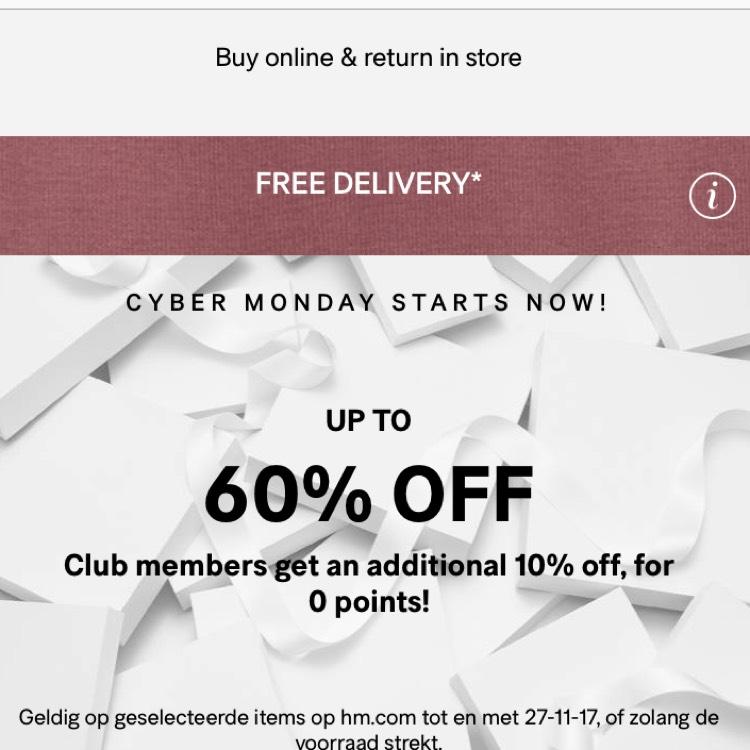 CYBER MONDAY BIJ H&M tot 60% korting @ H&M